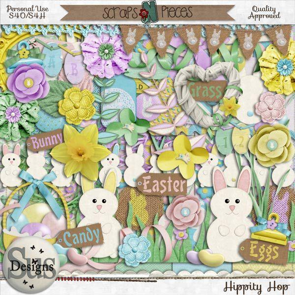 Hippity Hop #SusDesigns #DigiScrap #Scrapbook #ScrapsNPieces
