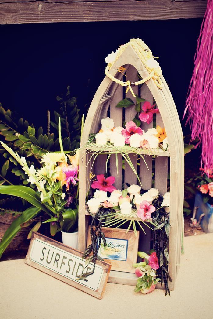 Bridal Shower Luau Party - KarasPartyIdeas.com #BridalShower #Hawaii