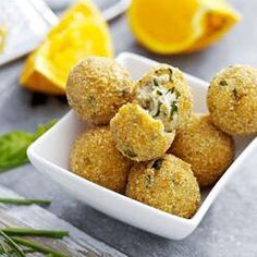 Ricotta Balls with Basil and other recipes for an air fryer.