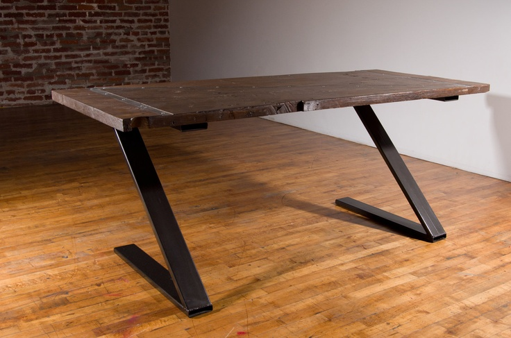 awesome desk, steel and reclaimed..
