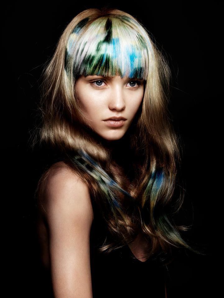 hair: Angelo Seminara colorist: Edoardo Paludo photo: Andrew O'Toole makeup: Denise Rabor styling: Letizia Dare