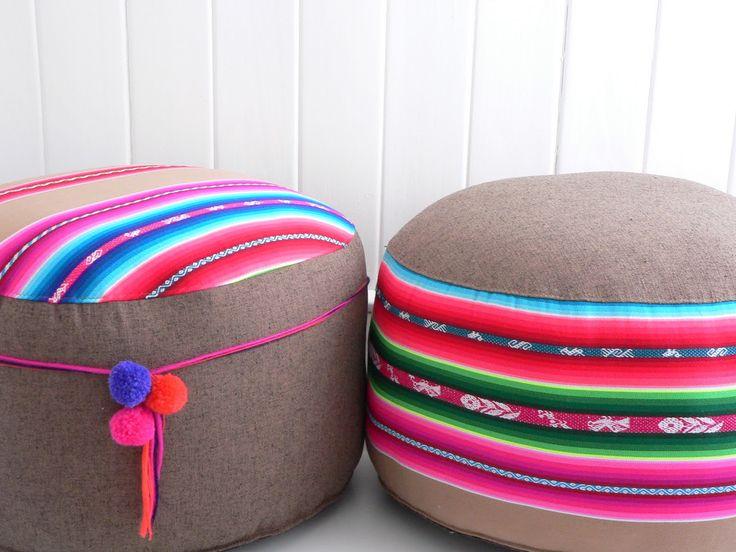 Almohadones con diseño étnico latinoamericano