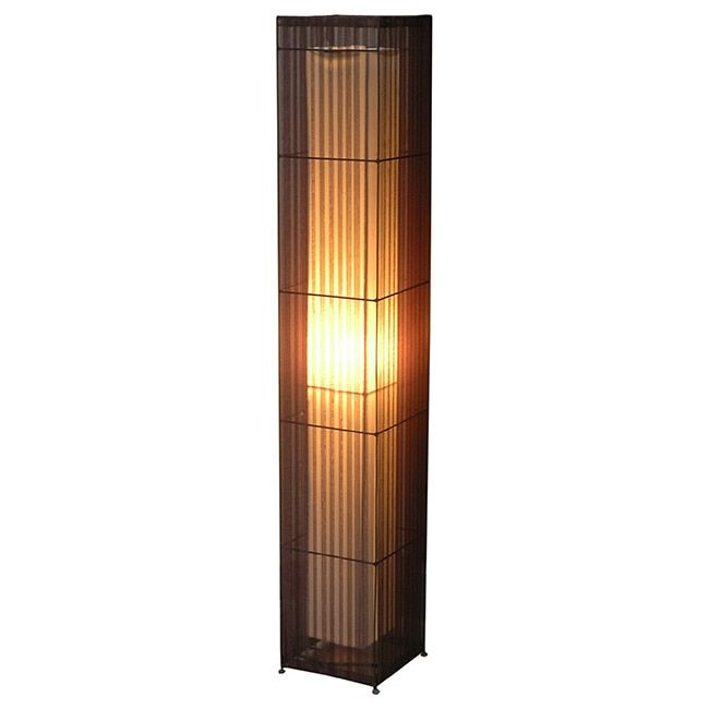 Crafted Home Decorative Arnold Geometric Transitional Floor Lamp