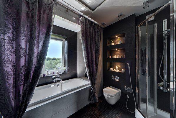Modern Design Ideas For Dark Blue Butchrome Foto. Simple BathroomIn BathroomBathroom  InteriorBathroom ...
