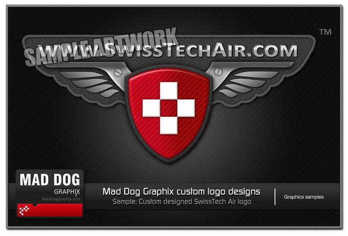 Logo for SwissTech Air by MadDogGraphix.com