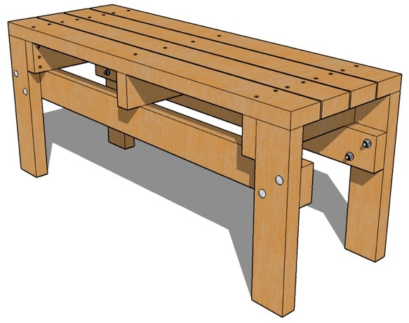 Simple Wooden Bench Designs ~ Bench seat plans woodworking projects