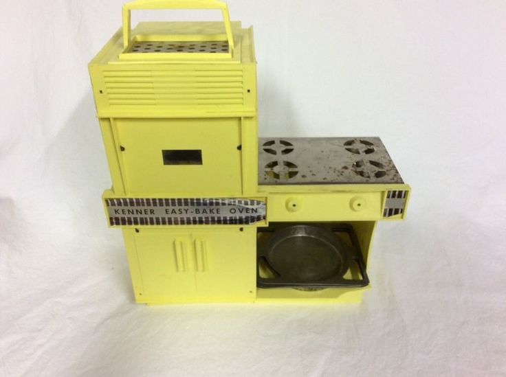 vintage yellow kenner easy bake oven w accessories rare color