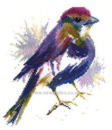 Buy+Blue+Feather+Cross+Stitch+Kit+Online+at+www.sewandso.co.uk