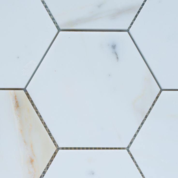 Designer Marble | Calacatta Gold Hexagon Mosaic 144mm
