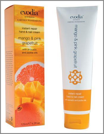 Evodia Mango & Pink Grapefruit Instant Repair Hand & Nail Cream.