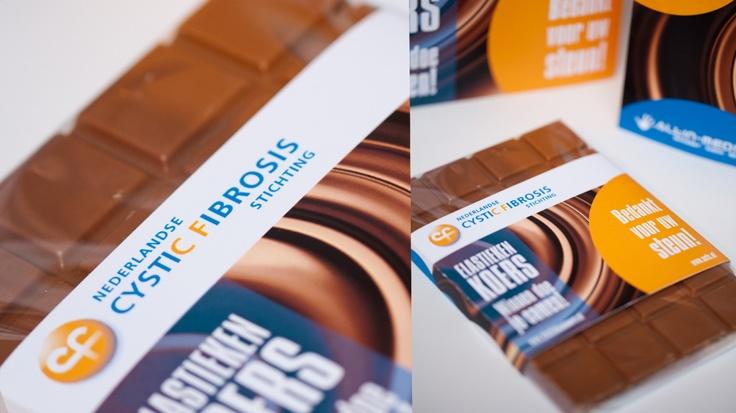 Choco wikkel gesponsord voor de CF stichting