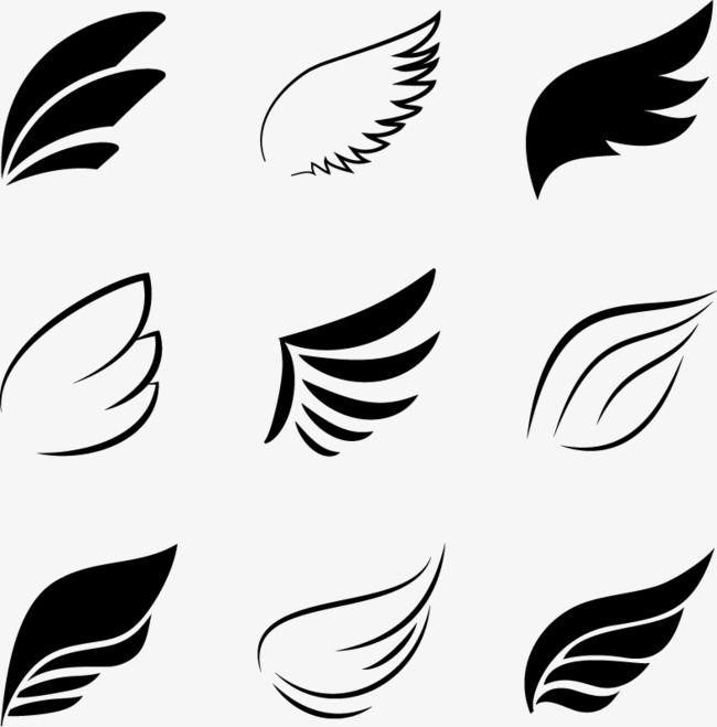 Elementos De Alas Negras Vector Decoracion Ala Png Y Psd Para Descargar Gratis Pngtree Angel Wings Vector Wind Logo Wings Logo