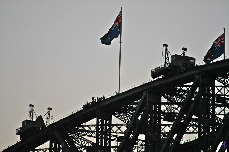 top of the Harbour Bridge