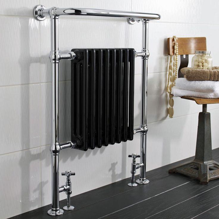 Marquis Klassieke Handdoekradiator - 960mm x 665mm - 1070Watt - Zwart
