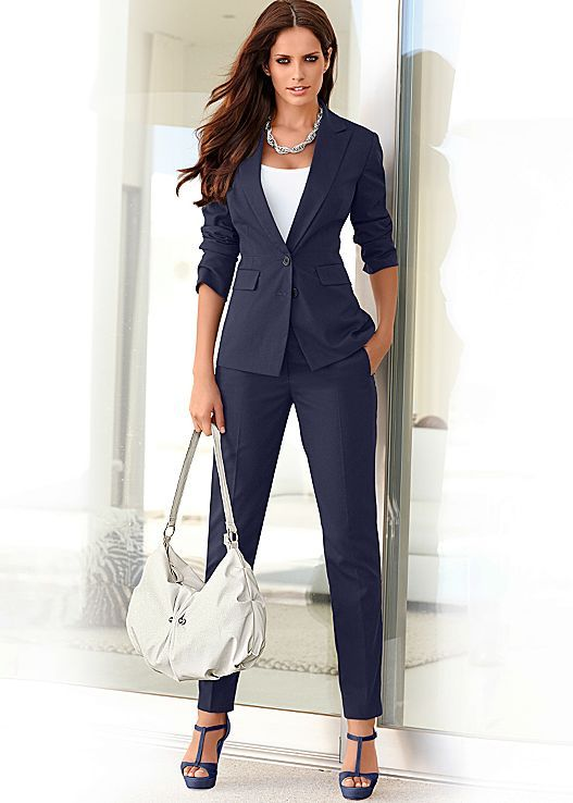There's nothing like a navy blue  suit...It just screams power. I need this.