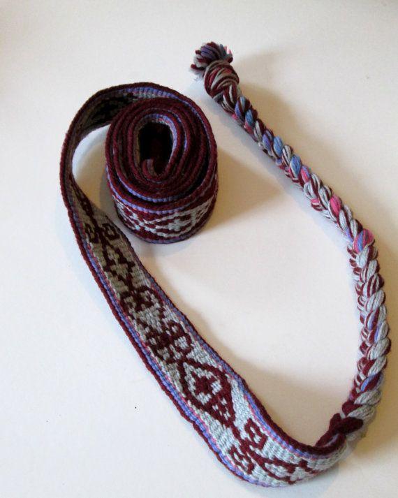 Tablet Woven belt. Card woven belt Medieval style. by OakNeedle, £40.00