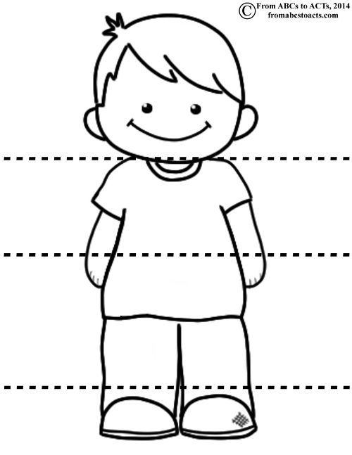 Head Shoulders Knees and Toes - Boy has a girl too- label eyes ears... as well to resing song