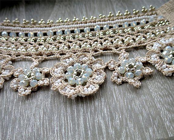 Viktorianische häkeln Armband Spitze Manschette antike von EZDessin