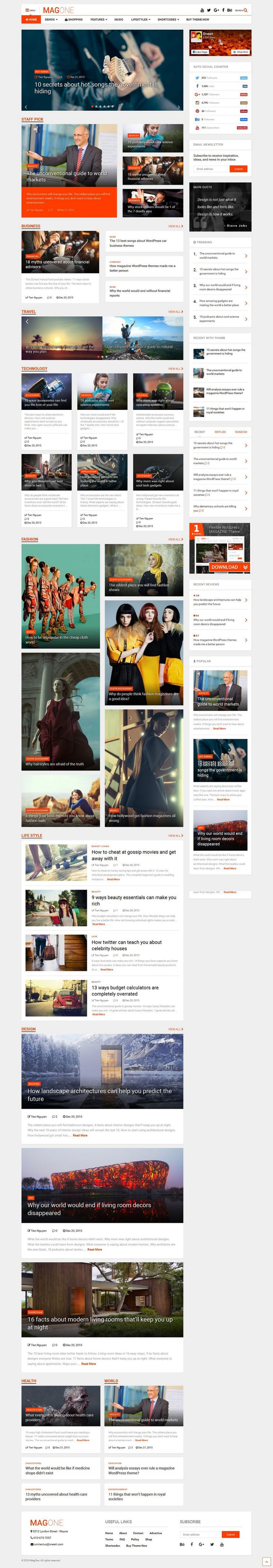 Magazine Theme Collection - 50 Best themes