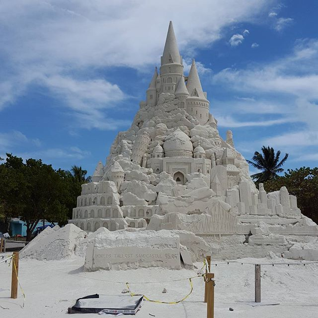 World's biggest sand castle.  #fractalbeach #virginiakeybeach #miami #florida