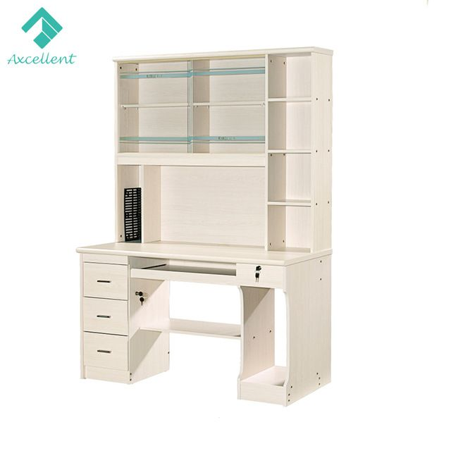 Source Home Office Laminated Computer Table With Bookshelf On M Alibaba Com Computer Table Computer Desk With Shelves Commercial Furniture