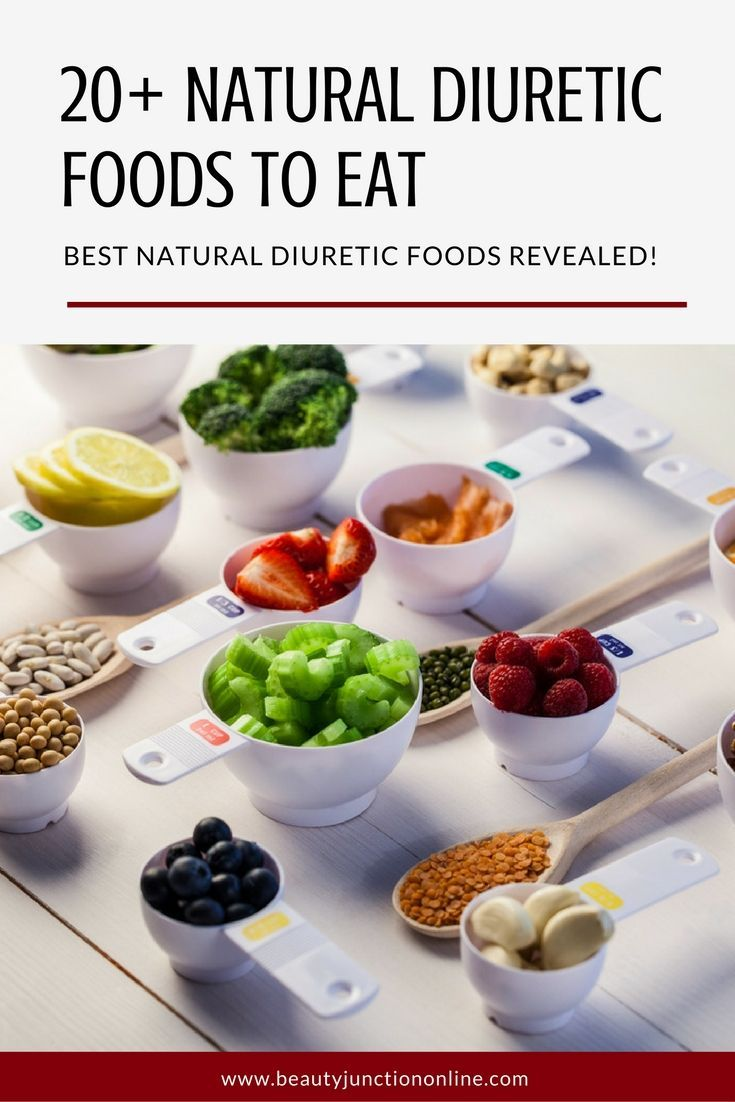 Discover the best natural diuretic foods to eat!