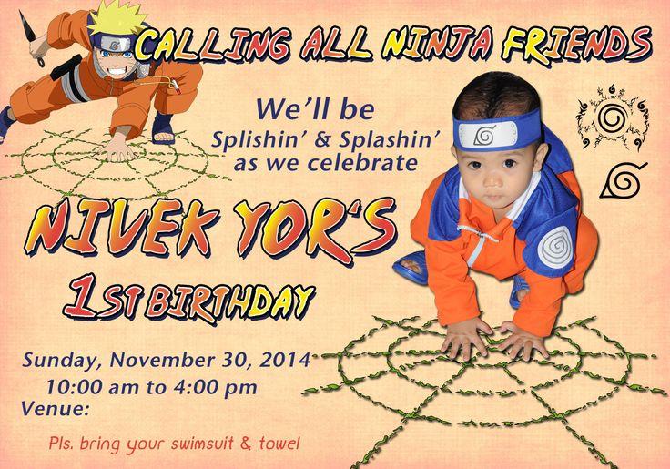 Naruto Birthday Party Invitation Card Photoshop Project