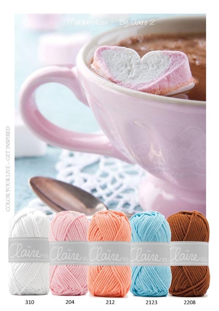 Marshmallow - Het garen is een mix van katoen en polyacryl. Hierdoor is het…