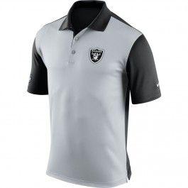 Oakland Raiders Nike NFL Preseason Polo (Gray)