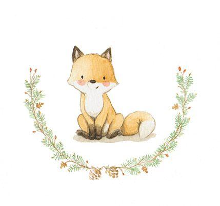 Ilustracion infantil zorro orla