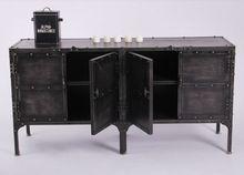 Американский стиле лофт кованые железные заклепки ретро рамки книжный шкаф буфет кабинет шкафчики ящики Tiegui(China (Mainland))