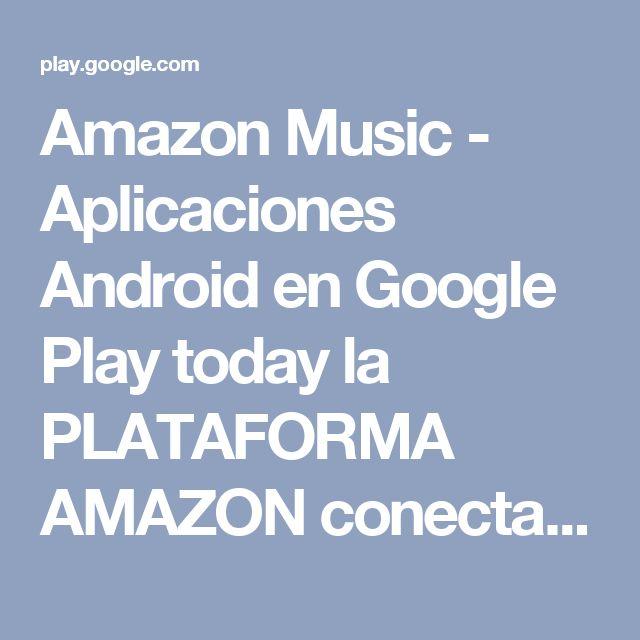 Amazon Music - Aplicaciones Android en Google Play today la PLATAFORMA AMAZON conectada Haden llamadas sacan fotos Bla, Bla, Bla. Mí ,,©©©©©©©©©©©©©© ésto es GRABÉ, ESTOY MUY MAL DE LA CABEZA POR ESTA SITUACIÓN...... MAL