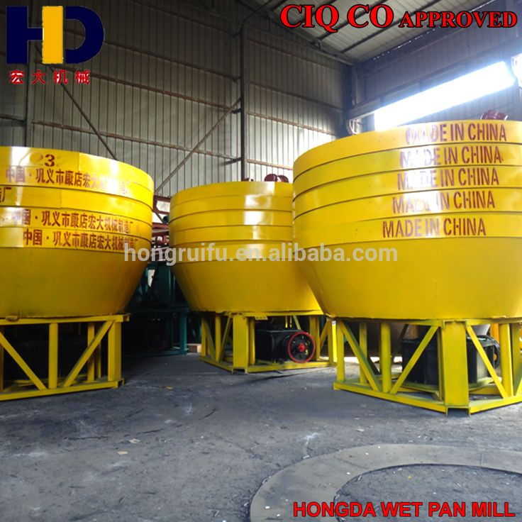 HONGDA HRF Gold Supplier China Manufacturer Gold Mining Equipment Chilean Mill For Sale
