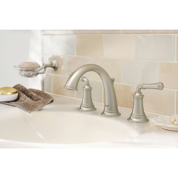 Shop GROHE Gloucester Brushed Nickel 2Handle Widespread