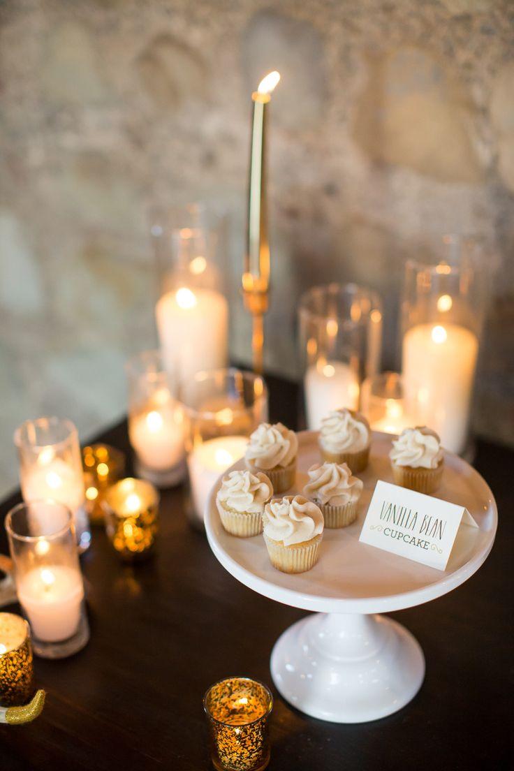 Candles on dessert bar. Design: Jen Simpson Design Handmade Paperie | Event  Design: