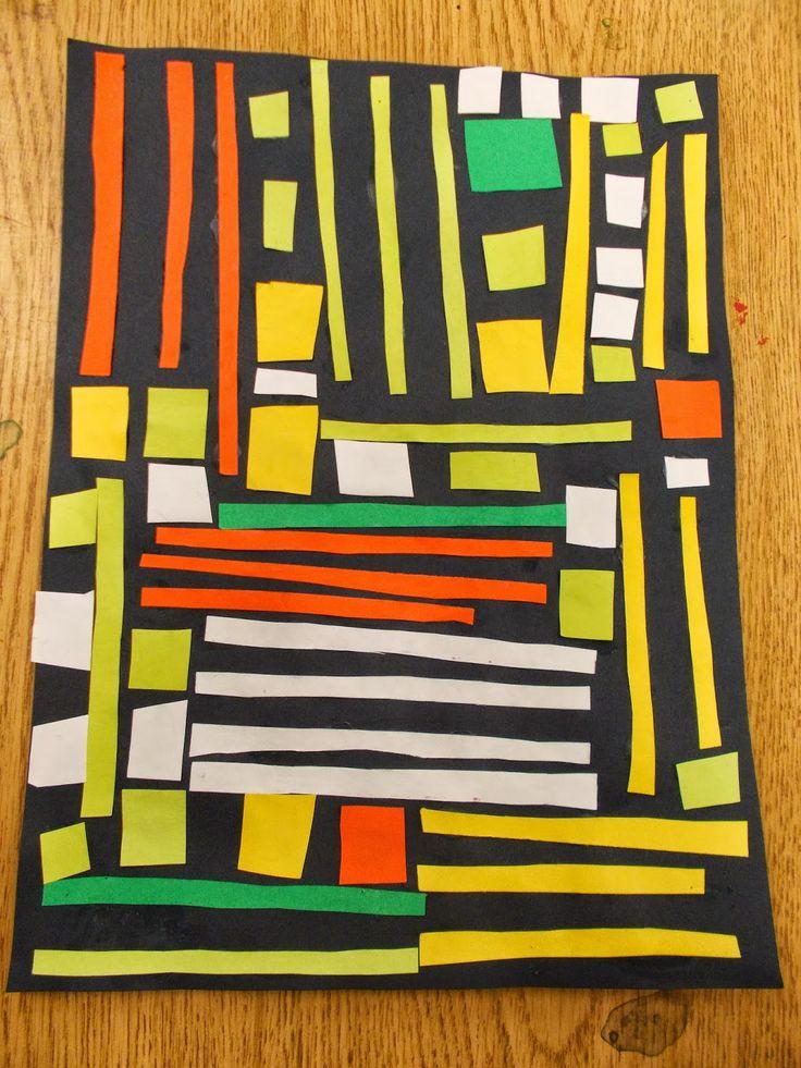 Polka Dot Spot: Kente Cloth  1st first grade art project idea lesson