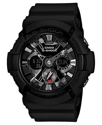 G-Shock Watch, Men's Analog Digital Black Resin Strap 55x53mm GA201-1A - Men's Watches - Jewelry & Watches - Macy's
