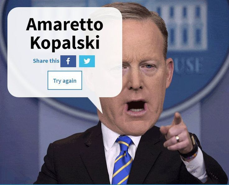 Let Sean Spicer destroy your name with this online generator     - CNET  Enlarge Image  Spice up your name Sean Spicer-style.                                                      Sydney Morning Herald                                                  White House Press Secretary Sean Spicer can get a little tongue-tied at times. He mispronounced Australian Prime Minister Malcolm Turnbulls name with what sounded like Trumble or Trunbull. Spicer also called Canadian Prime Minister Justin Trudeau…