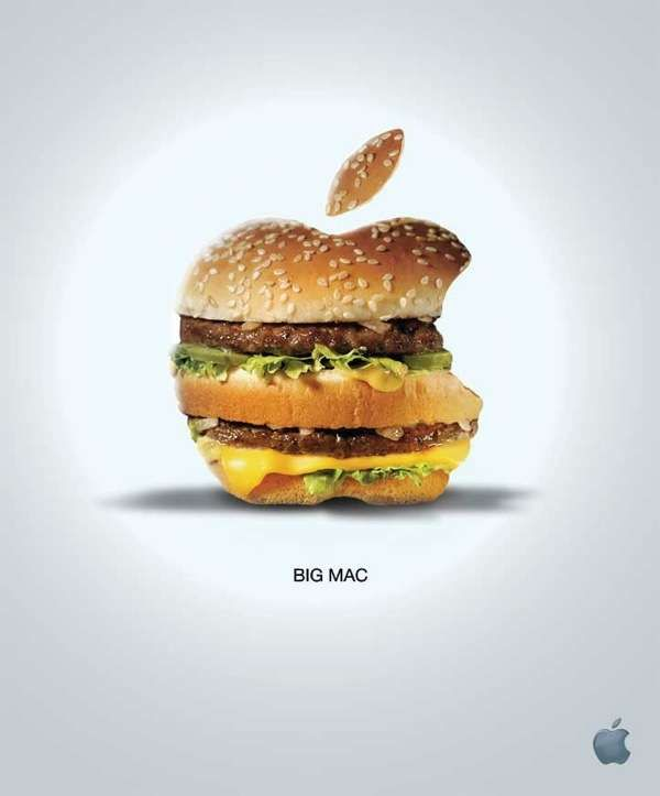 """CG - Great analyse from Tom Verhoeven : """"I am not sure if this is a good ad or bad ad for Apple. In one sense Apple could be wanting us to know there MAC is bigger and better. On the other hand how good is an actual Big Mac for your diet? Does that mean a Mac is not healthy or good for you either?"""""""