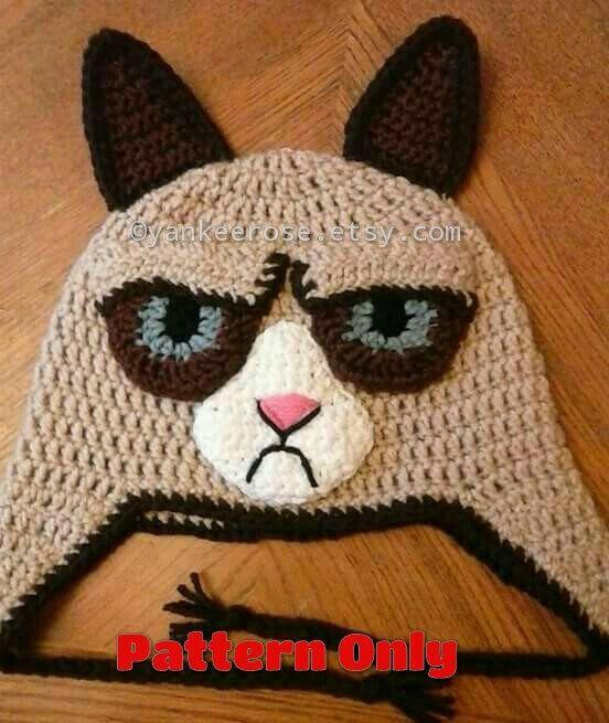 Grumpy Cat Crochet Hat Pattern Free : 77 best ideas about iaeshia on Pinterest Free pattern ...