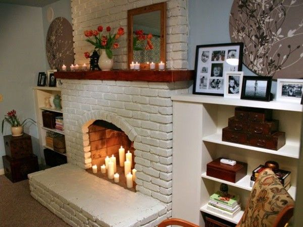 #livingroom | Non working fireplace decorating ideas.