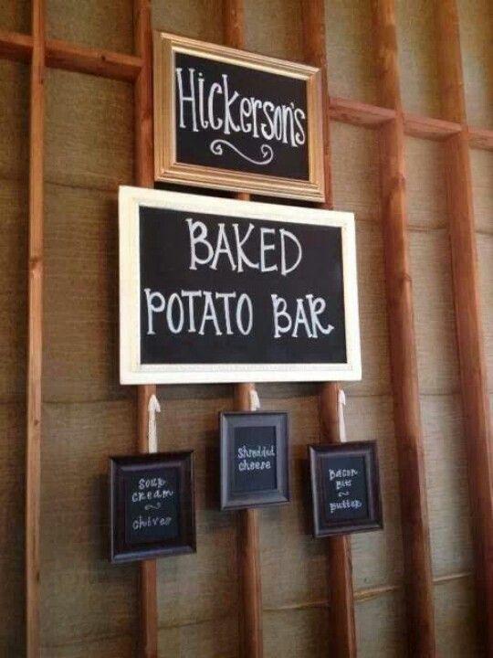 Baked Potato Bar Wedding Reception