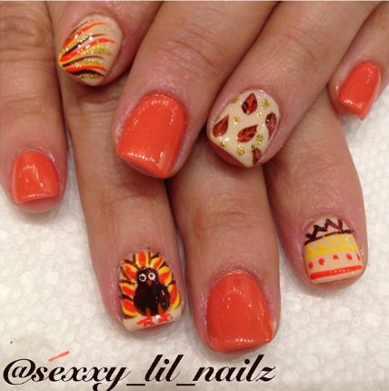 On Thanksgiving day, women wants to apply unique nail designs. London Beep  discover 20 beautiful thanksgiving nail designs ideas and photos. - Best 25+ Thanksgiving Nail Designs Ideas On Pinterest