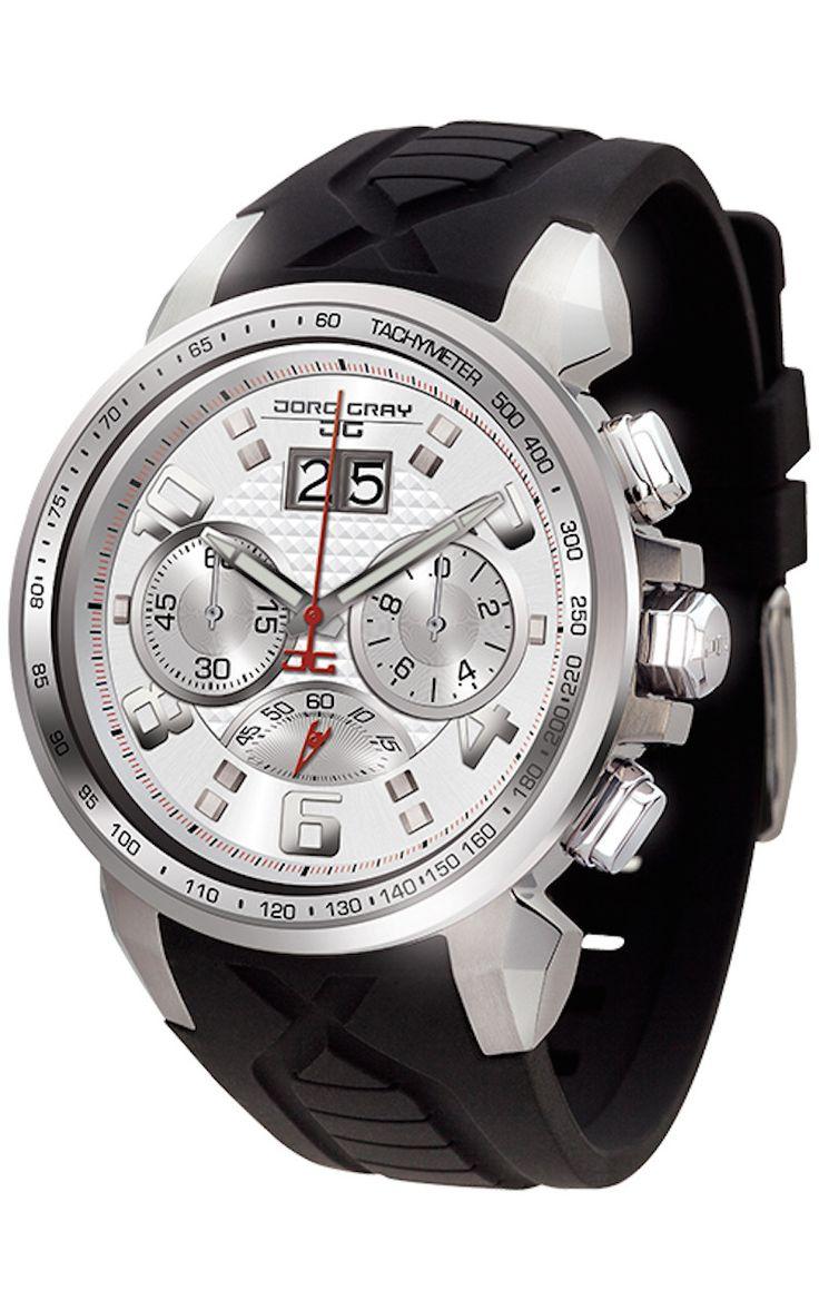 Jorg Gray JG5600-24 Men's Watch Chronograph Silver Dial ...