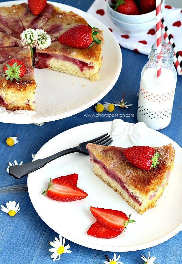 Torta morbida alle fragole | Chiarapassion