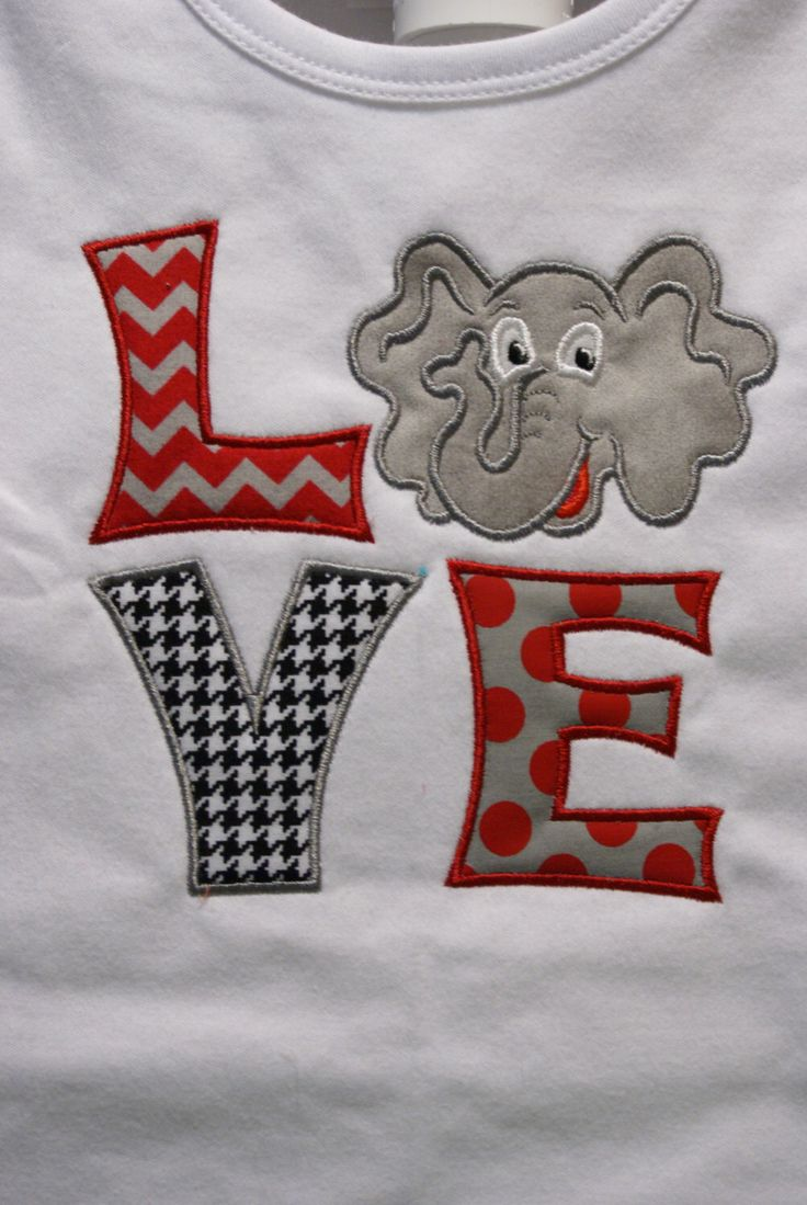 Alabama Shirt, I Love Bama appliqued Shirt by BaydillyAppliques on Etsy https://www.etsy.com/listing/220976040/alabama-shirt-i-love-bama-appliqued