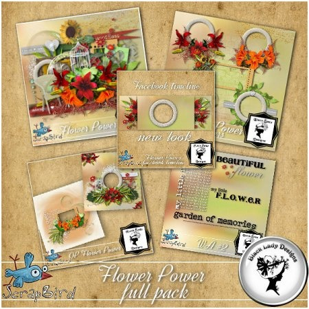 Flower Power full pack by Black Lady Designs