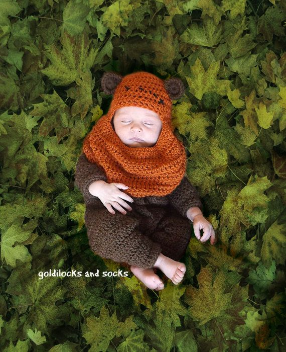 Ewok Hat: Ewok Inspired Outfit, Newborn Star Wars, Crochet Ewok Hat