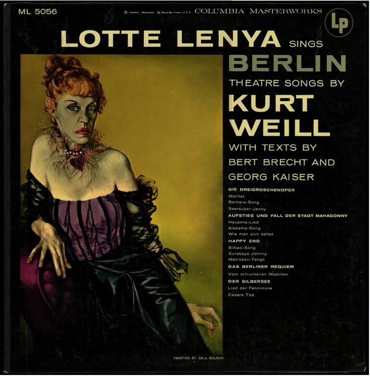 Lotte Lenya album portrait by saul bolasni