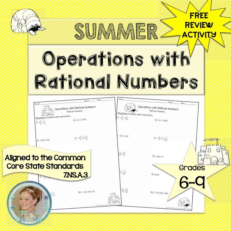 Summer Rational Numbers.pdf Google Drive Rational